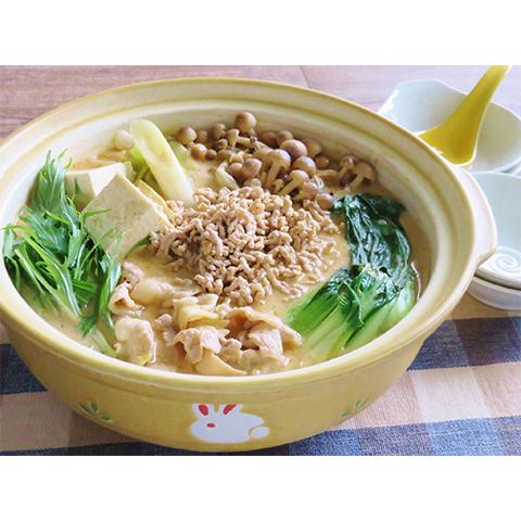 【濃いアーモンドミルクレシピ】アーモンドミルクの胡麻坦々鍋
