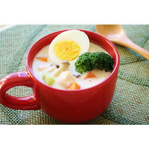 【濃いアーモンドミルクレシピ】アーモンドミルクの具だくさんスープ