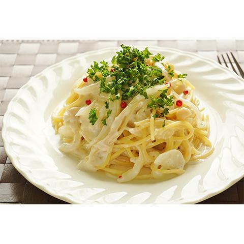 【濃いアーモンドミルクレシピ】塩麹とアーモンドミルクのパスタ