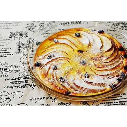 【濃いアーモンドミルクレシピ】林檎とドライフルーツのアーモンドミルククラフティ