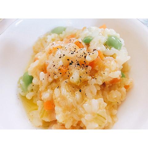 【濃いアーモンドミルクレシピ】夏野菜のクリーミーリゾット