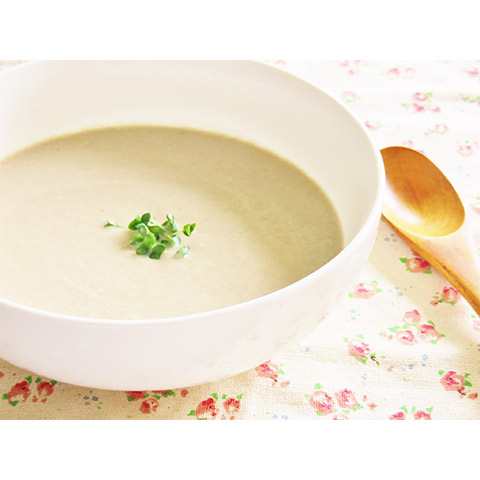 【濃いアーモンドミルクレシピ】マッシュルームとアーモンドミルクのポタージュ