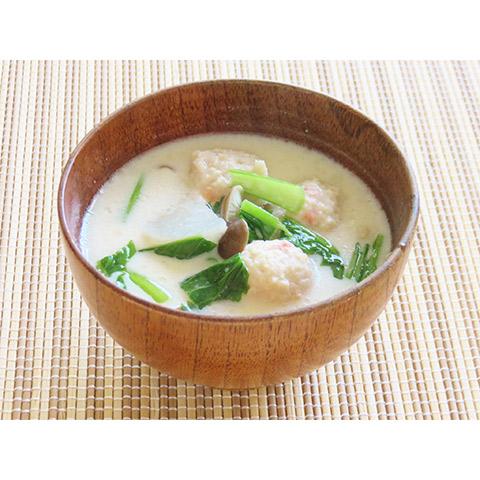 【濃いアーモンドミルクレシピ】肉団子のアーモンドミルク汁