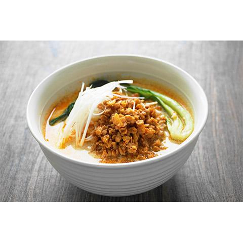 【濃いアーモンドミルクレシピ】アーモンドミルクのダイズミートタンタン麺