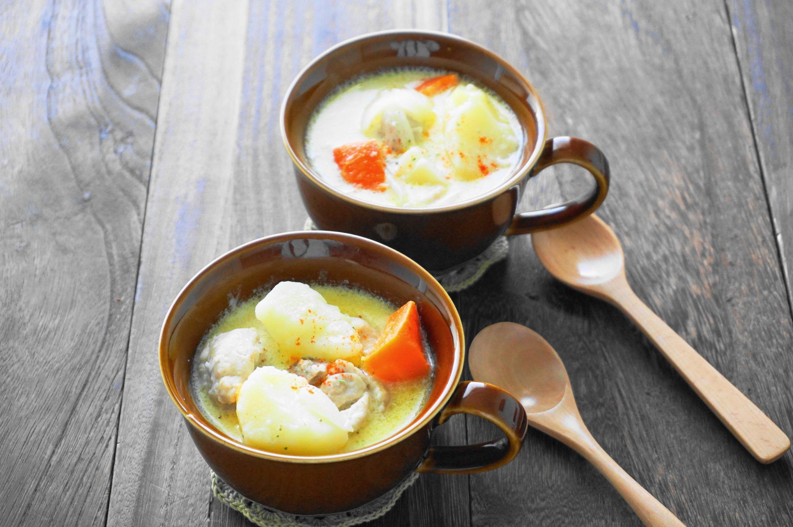 【濃いアーモンドミルクレシピ】アーモンドミルクとジャガイモのシュクメルリ
