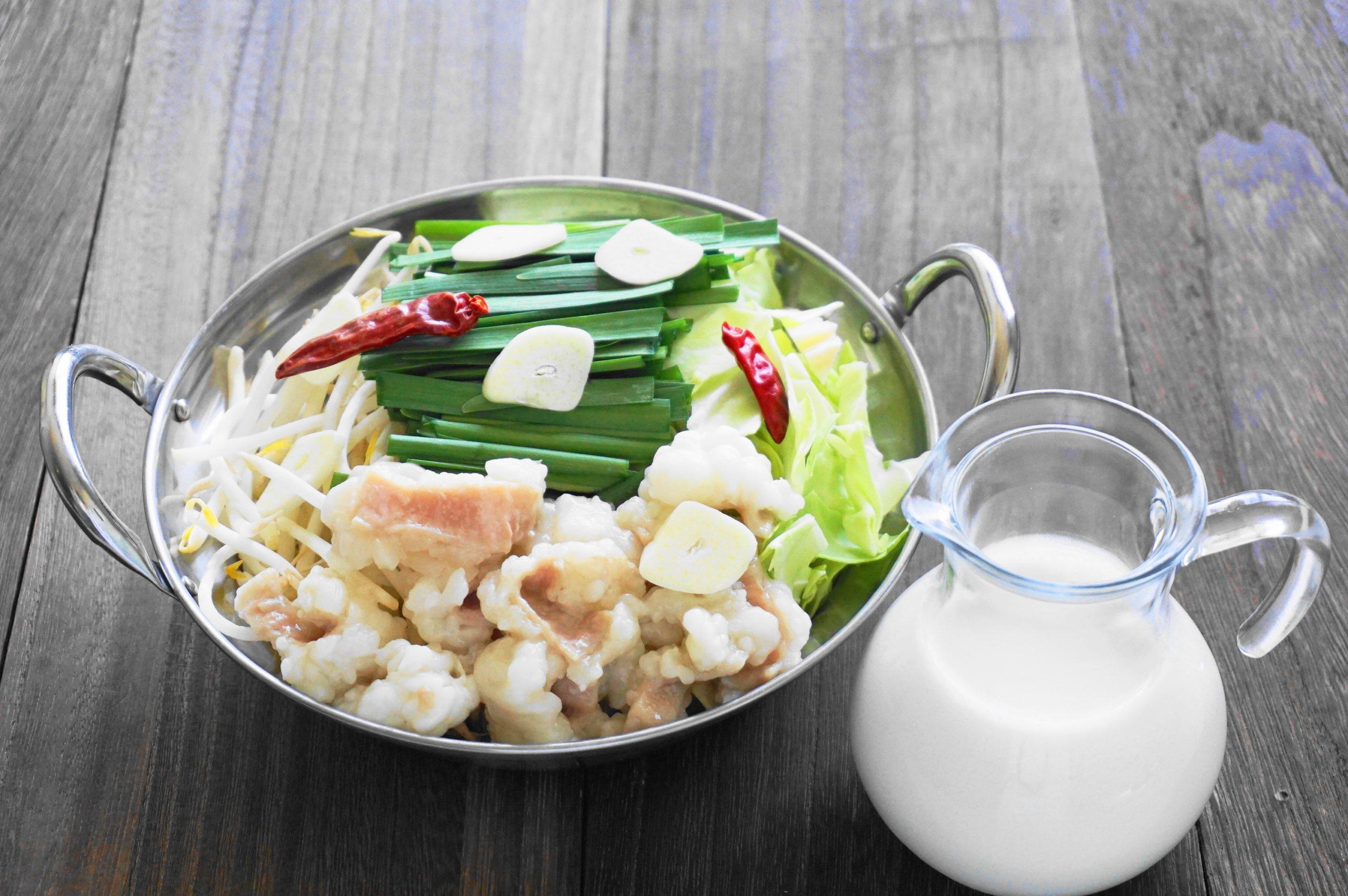 【濃いアーモンドミルクレシピ】アーモンドミルクもつ鍋